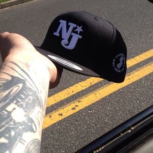 "Image of NJSOM ""NJ"" SNAPBACK-BLK"