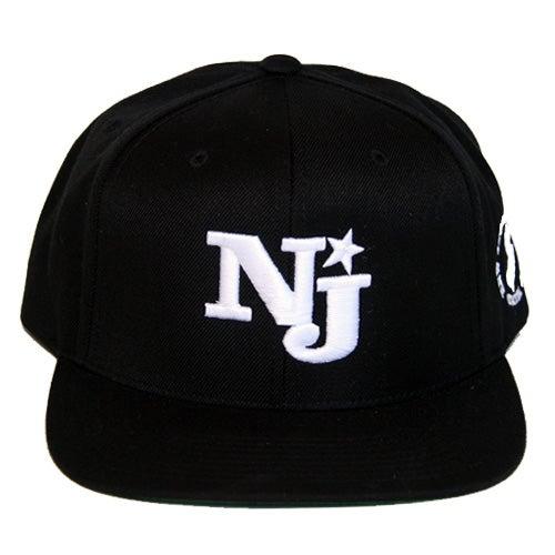 "Image of NJSOM ""NJ"" SNAPBACK-BLK"