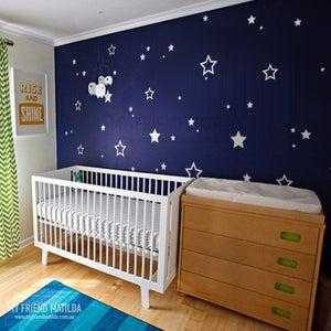 Image of Stars Children wall stickers - children wall decals - nursery star wall decals star stickers