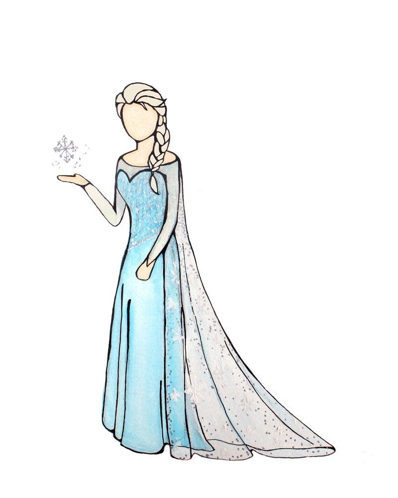 Image of Elsa Print -FROZEN