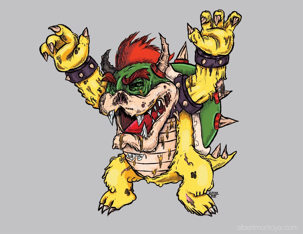 "Image of Print ""Bowser Zombie"""