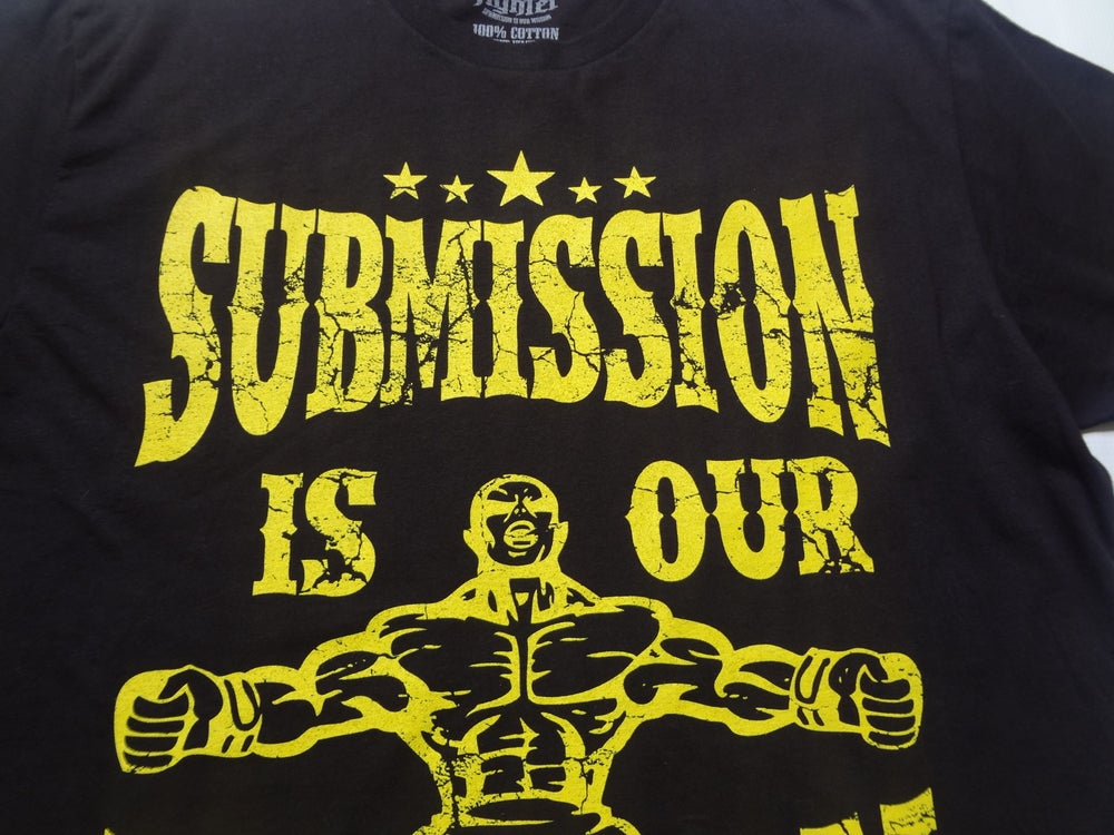 Image of Submission is our Mission-Black shirt with Epic Yellow