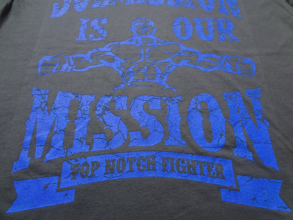 Image of Submission is our Mission-Charcoal Gray shirt with Epic Blue