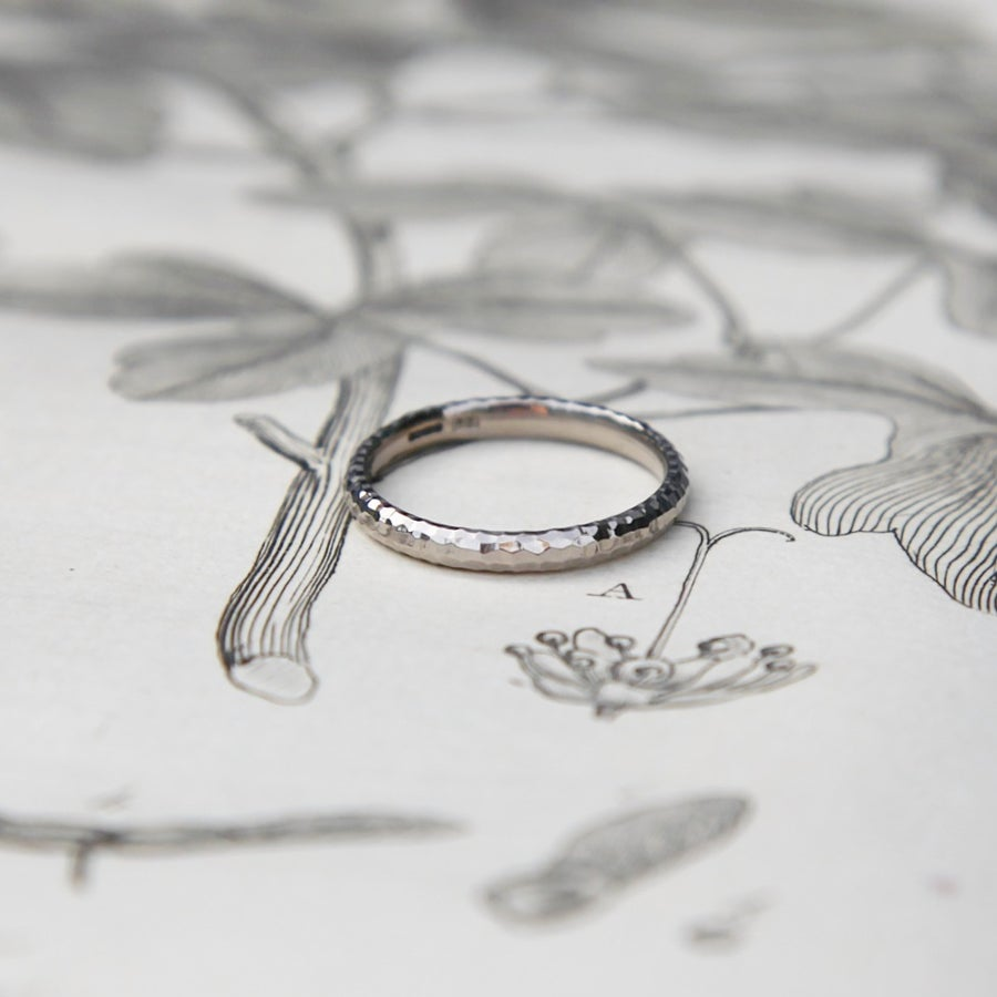 Image of 18ct White Gold 2.5mm faceted ring