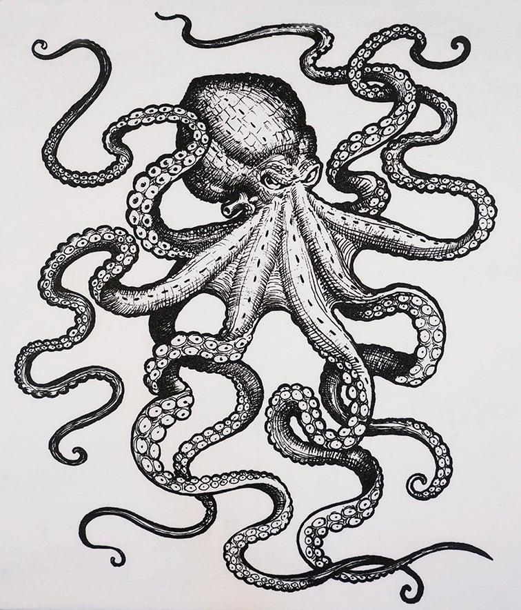 Image of Octopus Baseball Tee