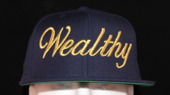 Image of Wealthy Hat Blue / Gold