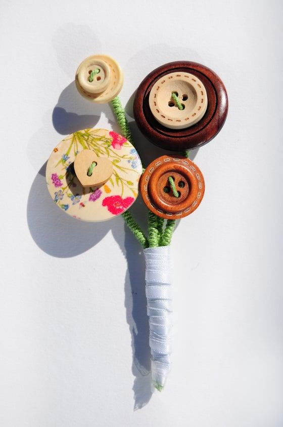 Image of Wooden Button Buttonhole