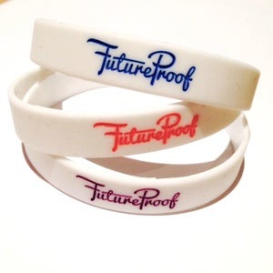 Image of FutureProof Wristbands Slim - White Design FIRE SALE £1