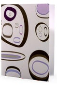 Image of 6 Pack Noteset in Purple Pebbles