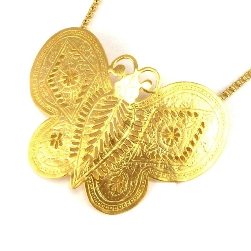Image of SOLD OUT Kenneth Jay Lane Butterfly Necklace As Seen on 'Sex and The City'