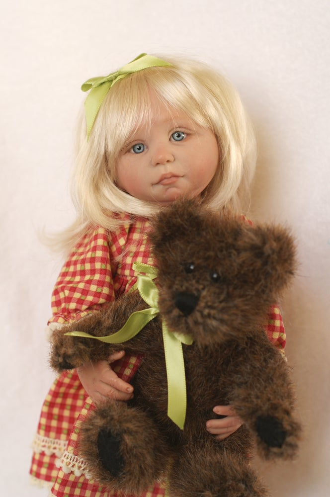 Image of Goldie and her Favorite Bear