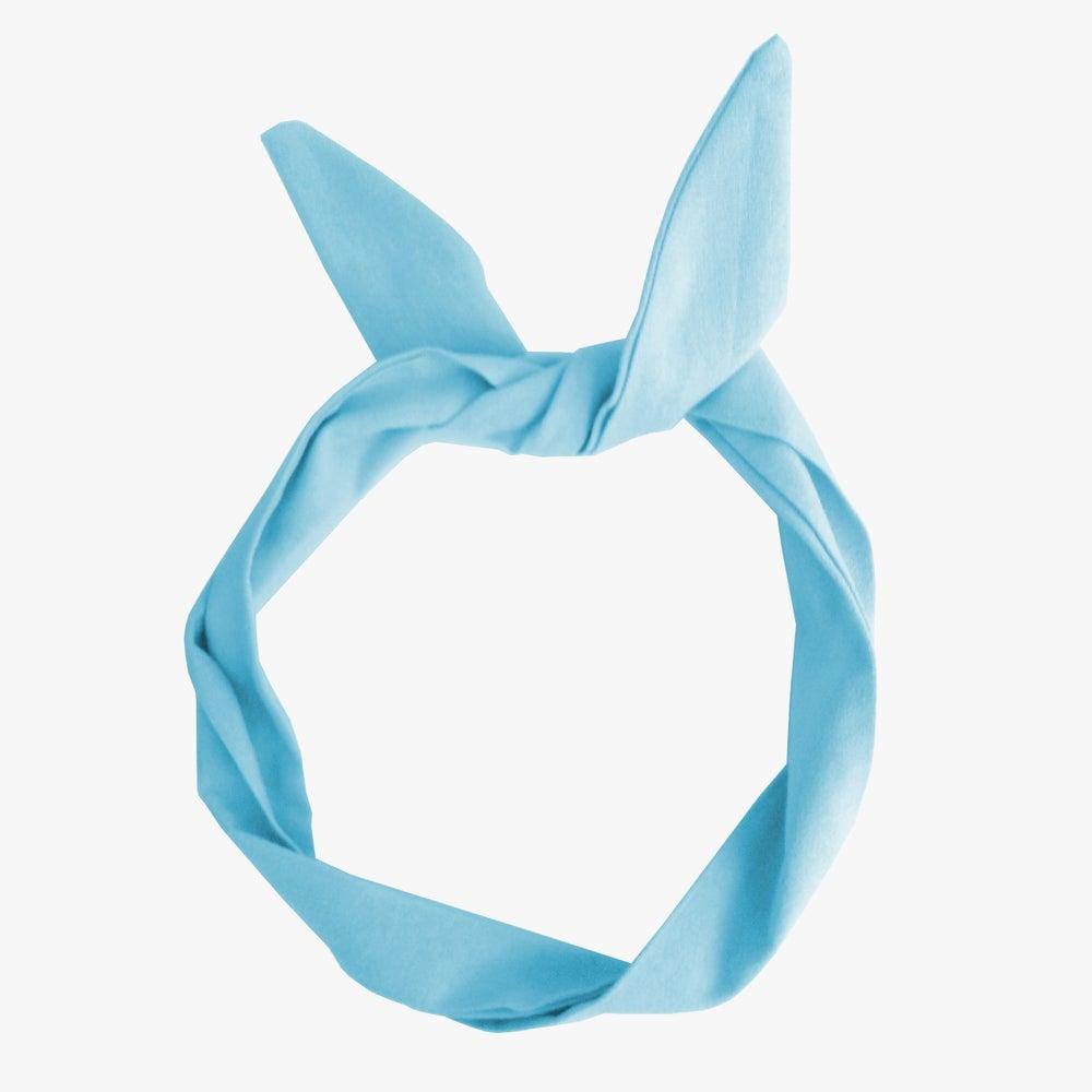 Image of Diadema moldeable azul cielo
