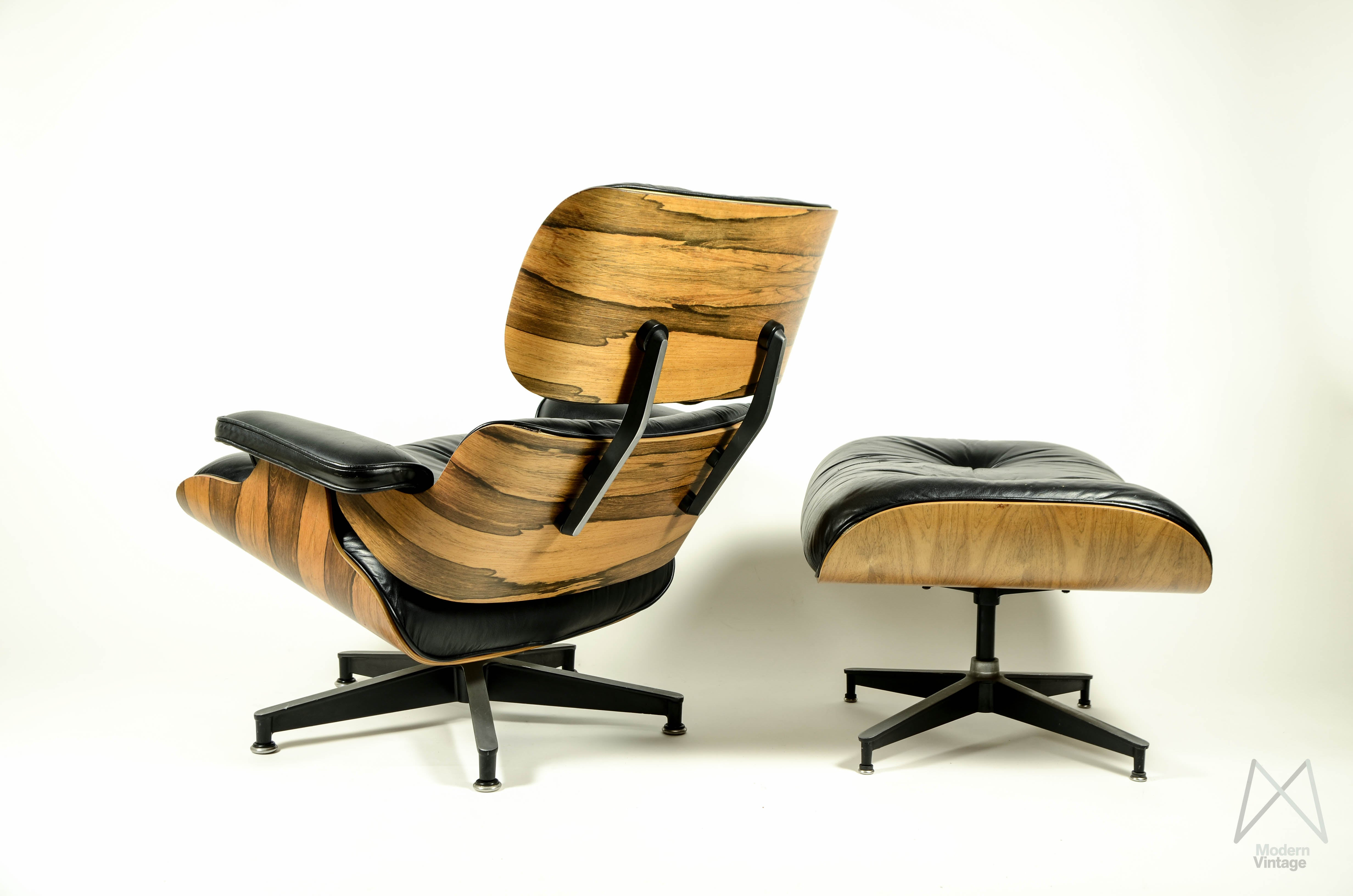 Cheap Image Of Charles And Ray Eames Rosewood Crazy Flame Lounge Chair  Original Stol With Barcelona Stuhl Original.