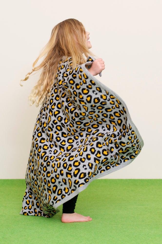 Image of Leopard Blanket Grey