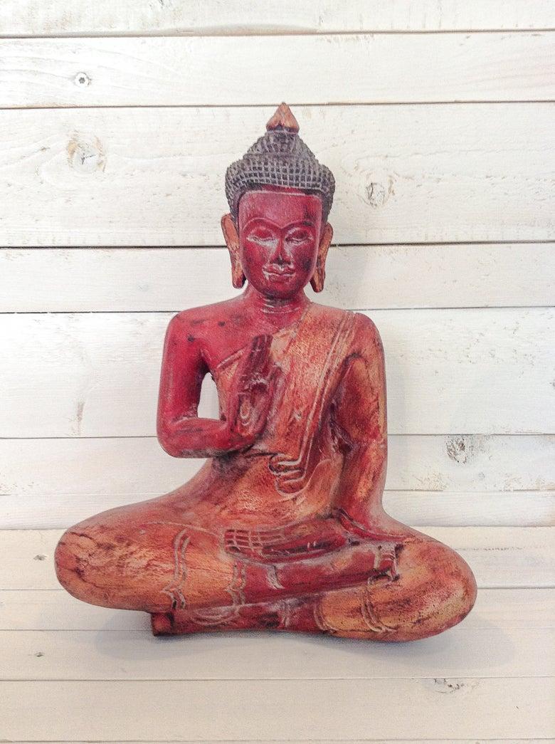 Image of Wooden Buddha