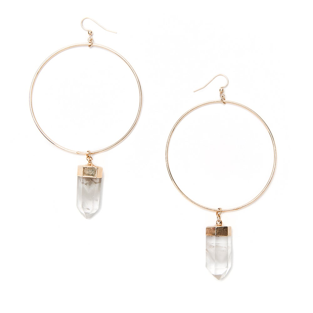 Image of Quartz Hoops