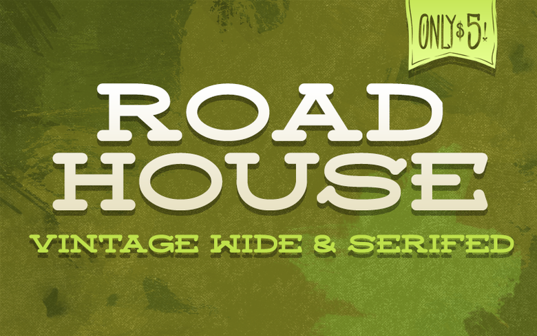 "Image of ""Roadhouse"" Font"