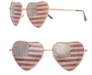 Image of Ladies heart flag sunglasses