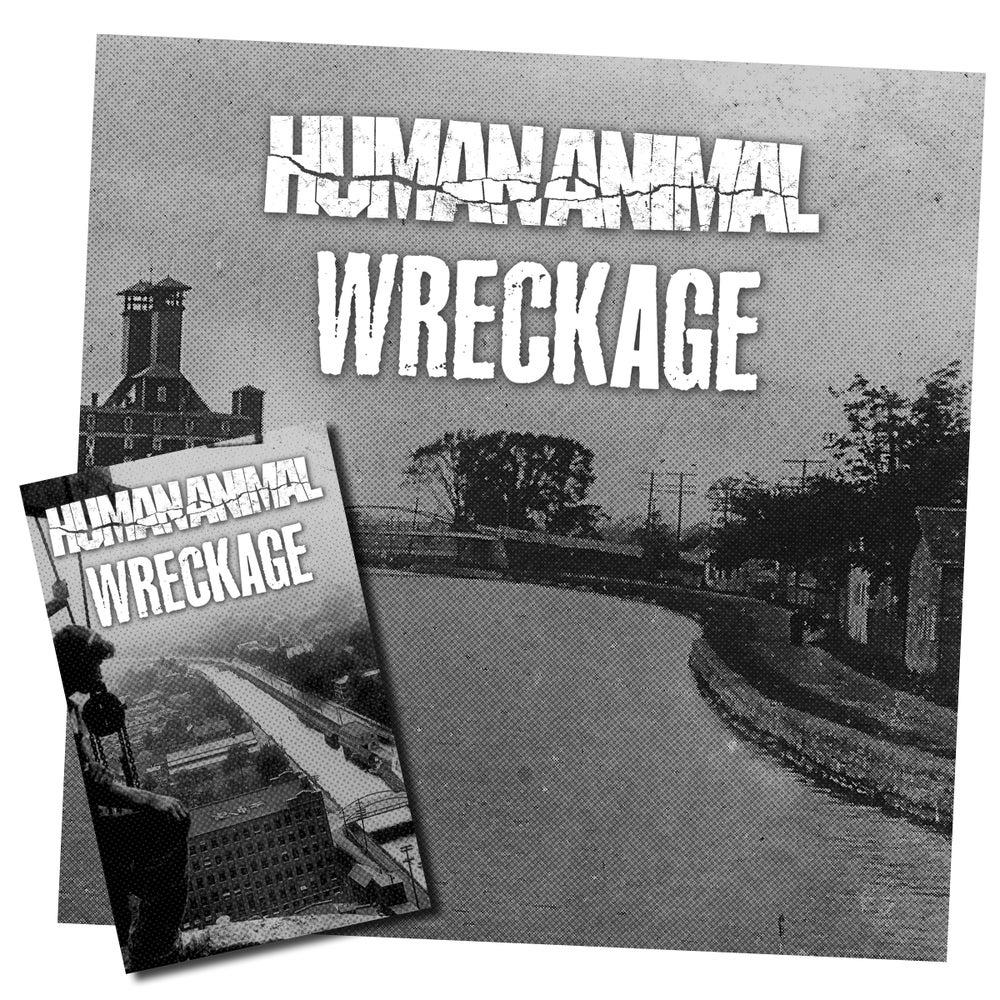 "Image of Human Animal / Wreckage - Split 7"" + CS bundle"