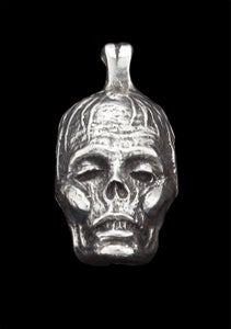"""Image of Large Sterling Silver """"Zombiehead"""" Pendant"""