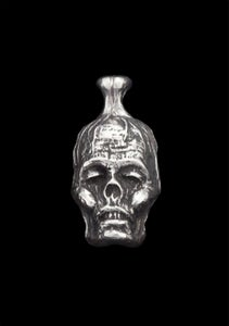 "Image of Small Sterling Silver ""Zombiehead"" Pendant"