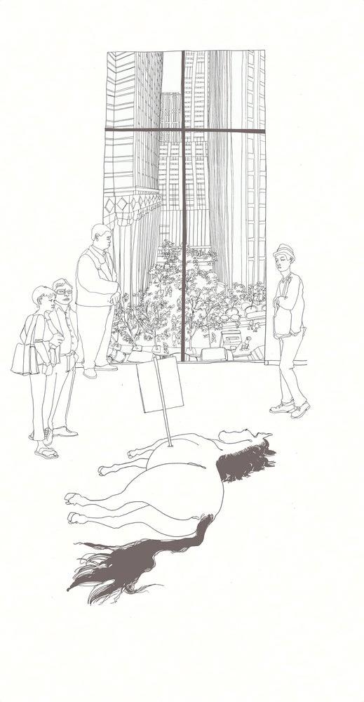 Image of Maurizio Cattelan at MoMA, Original Work