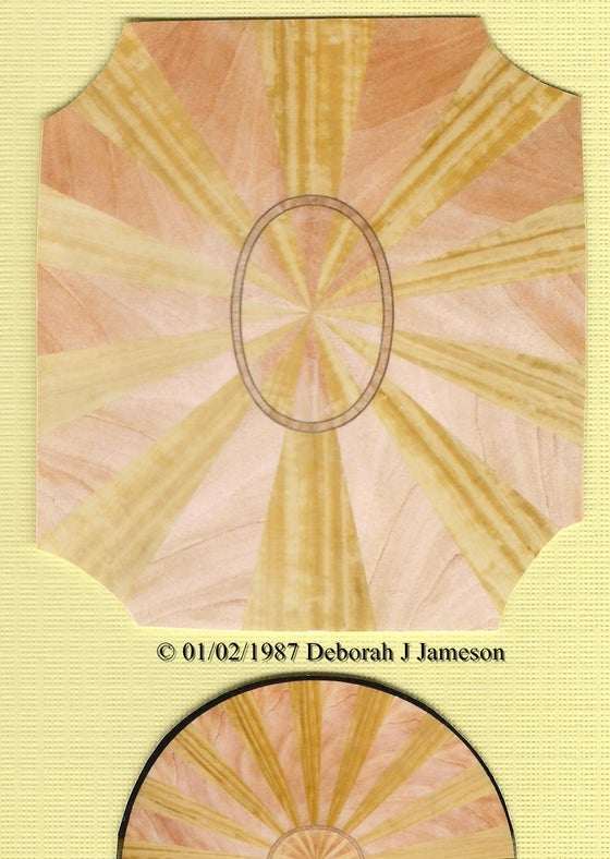 Image of Item No. 67. Sunburst Veneeering.
