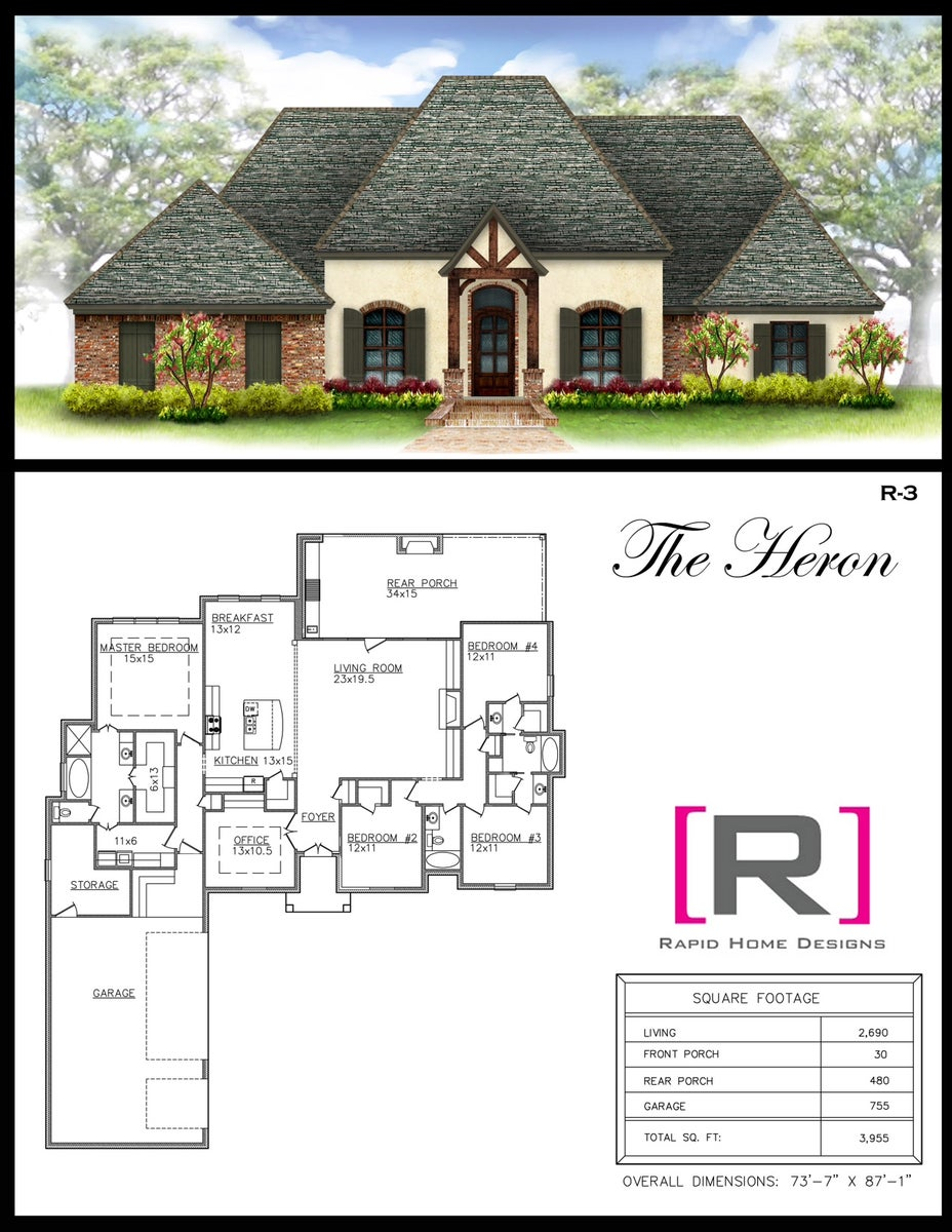 The heron 2690sf rapid home designs for Rapid home designs