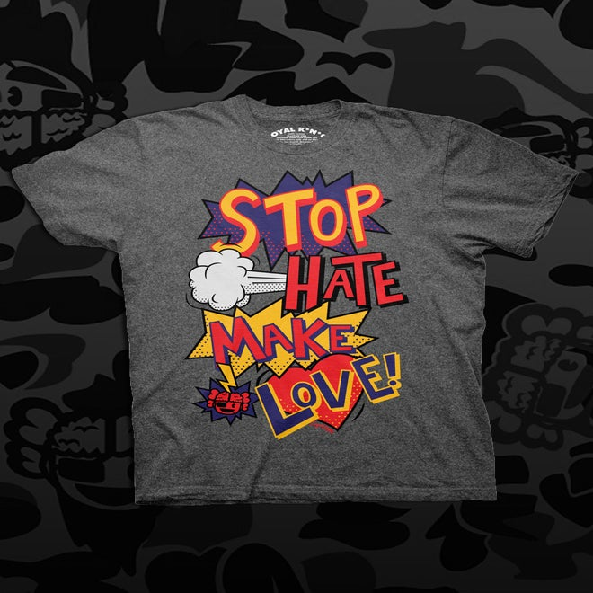 Image of Stop Hate, Make Love POW (Silver/Black)