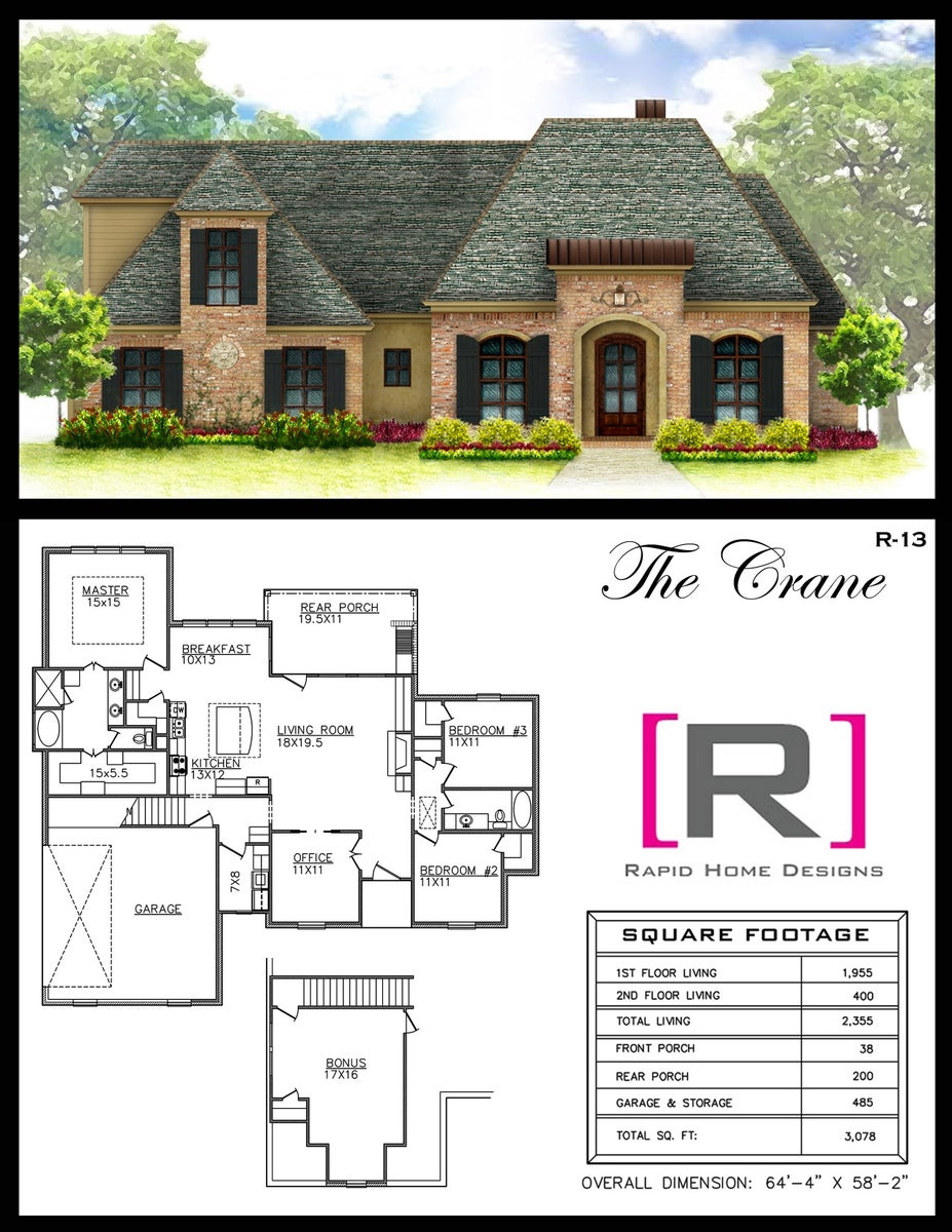 The crane 1950sf rapid home designs for Rapid home designs