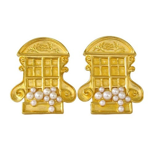 Image of SOLD Karl Lagerfeld 1990's Vintage Window Earrings