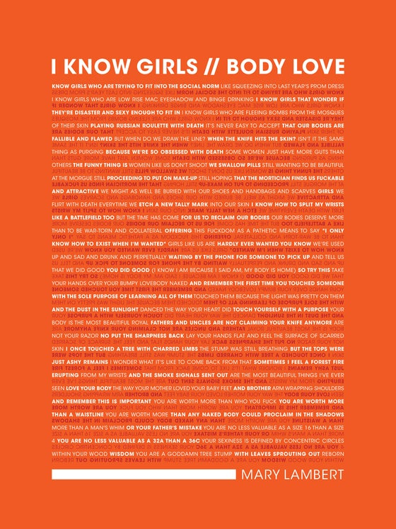 Image of Body Love Poster