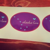 Image of Alaska Love Sticker- Oval Purple