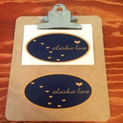 Image of Alaska Love Sticker- Oval Navy/Gold