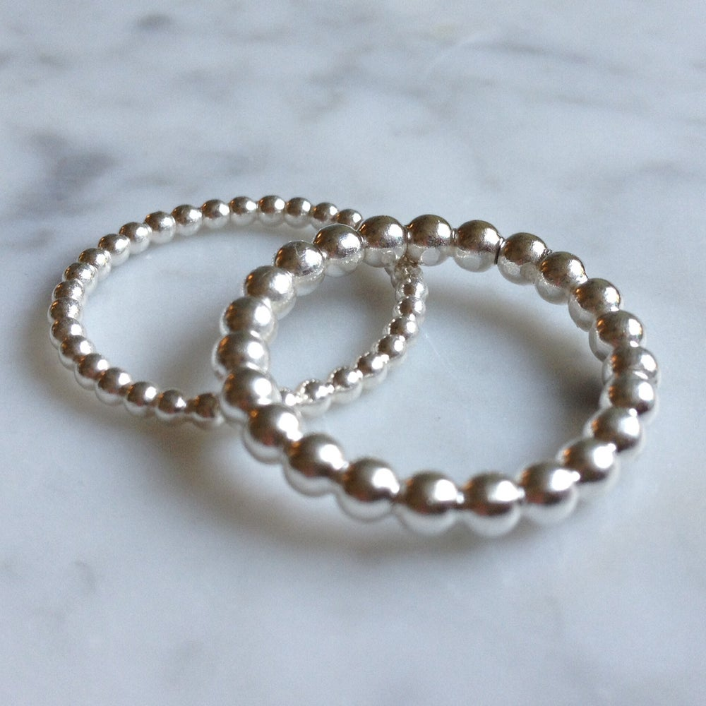 Image of Bubbly silver ring thicker