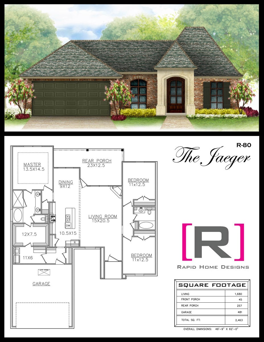 The jaeger 1680sf rapid home designs for Rapid home designs
