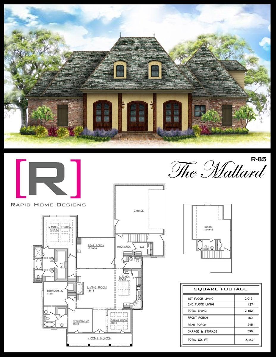 The mallard 2452sf rapid home designs for Rapid home designs