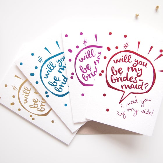 Image of Will You Be My Bridesmaid gift Card