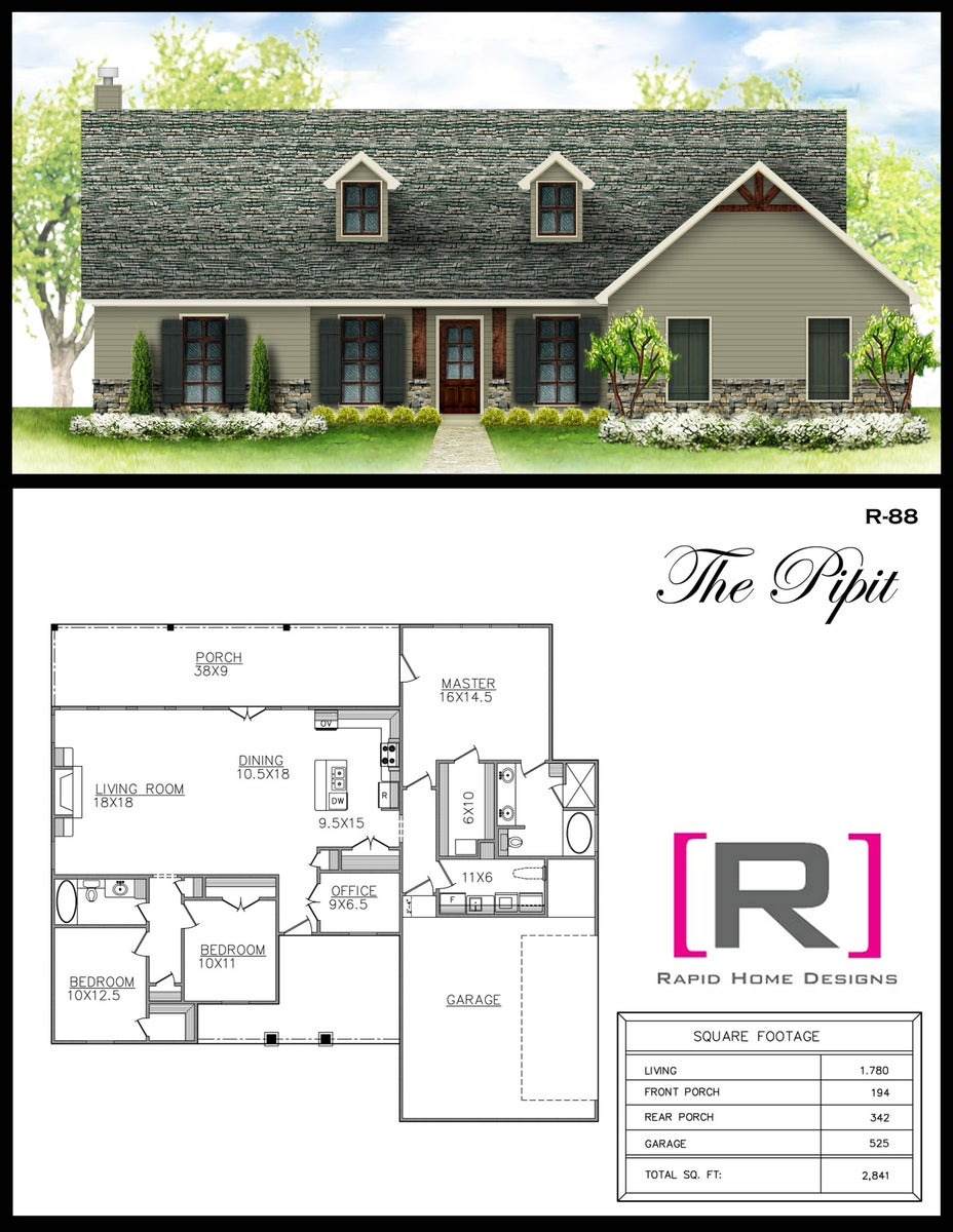 The Pipit 1780sf Rapid Home Designs