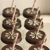 Image of Floral Paper Straws