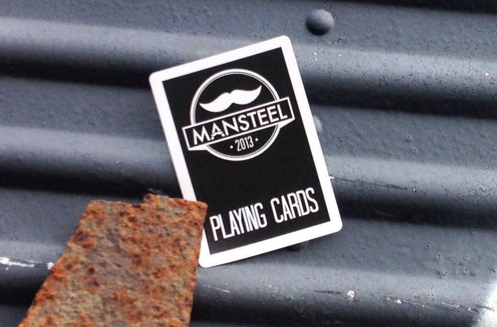 Image of Mansteel Mustache Playing Cards