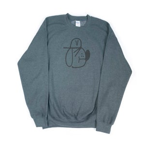Image of REMIO; Grey Vandal Dog CREWNECK