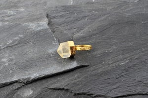 Image of Pencil on top ring with crystal
