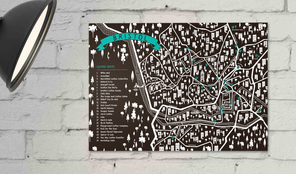 Image of Bristol Coffee Map Poster