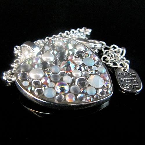 Image of Ice Rocks Heart Silver Pendant