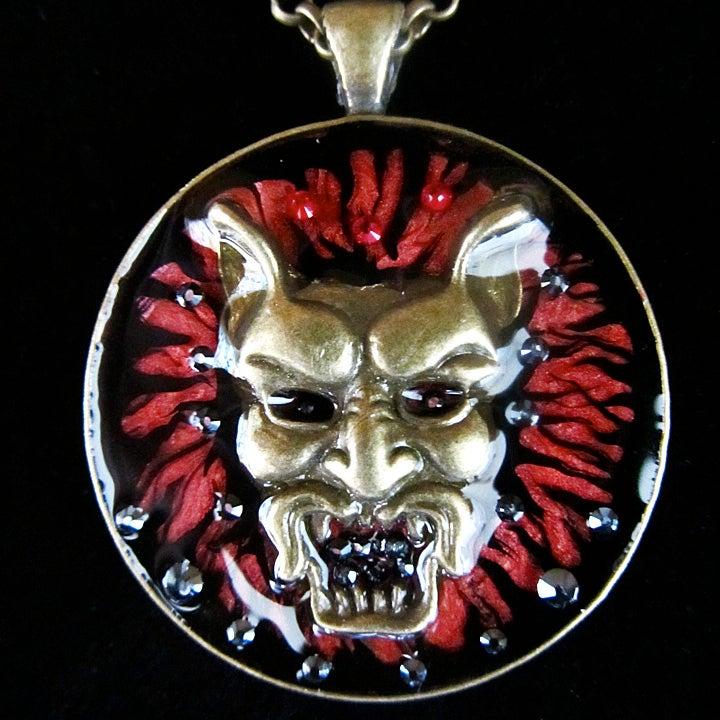 Image of Demon Bronze Round Pendant