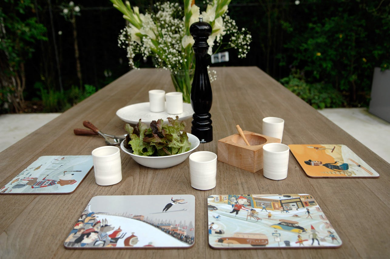 Image of Table placemats: 'Slush mountain' by Bjorn Rune Lie