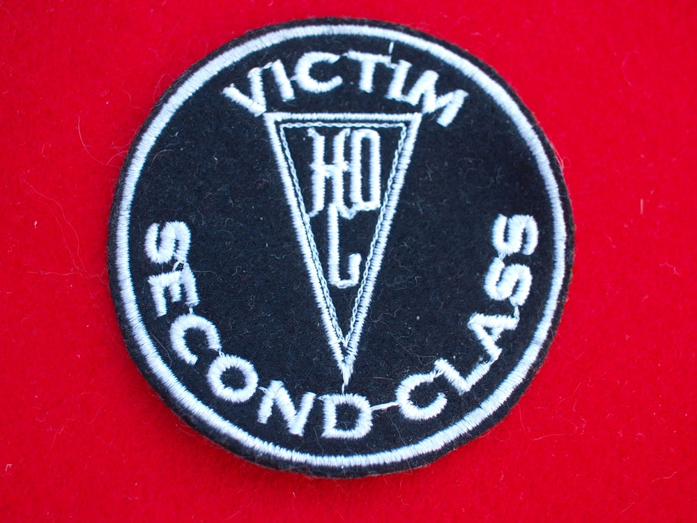 "Image of Herr Döktor's Laboratory embroidered ""VICTIM SECOND CLASS"" Patch"