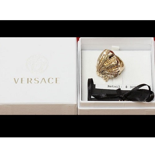 Image of SOLD OUT AUTHENTIC Gianni Versace Haute Couture Runway Baroque Shell Ring