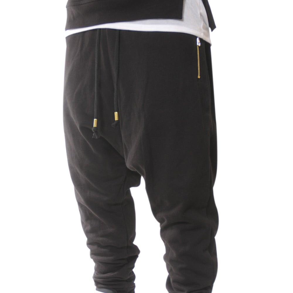 2s cs 2sics zip jogger pant with gold zips black white
